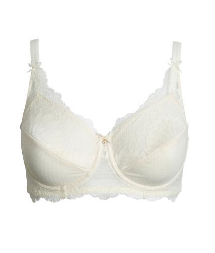 Amoena Aurelie Pocketed Underwired Bra in Off-White 36B