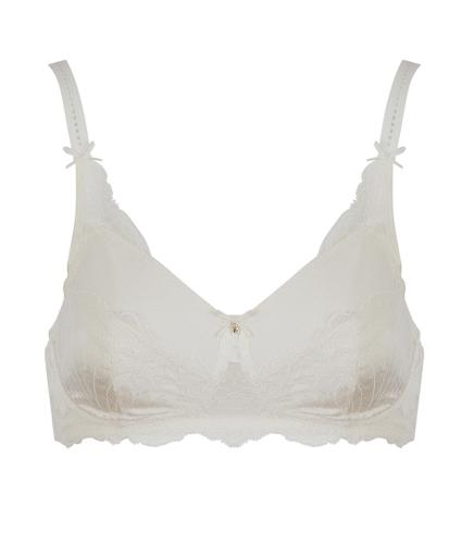 Amoena Aurelie Pocketed Non-Wired Bra in Off-White
