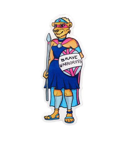 Brave Lioness Warrior Pin Badge