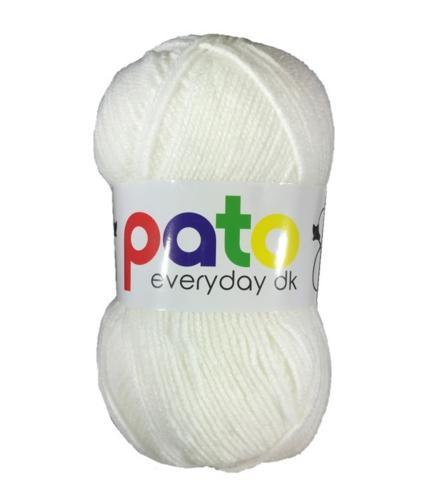 Cygnet Pato Everyday DK Knitting Yarn in White 999