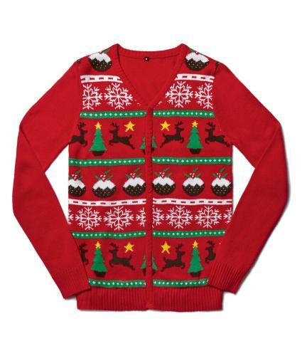Christmas Pudding Cardigan