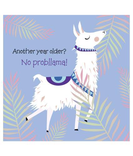 Lilac Llama Birthday Card