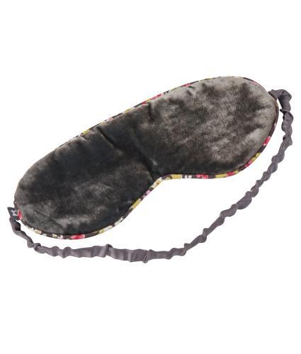 Sleep Eye Mask in Grey Silk Velvet