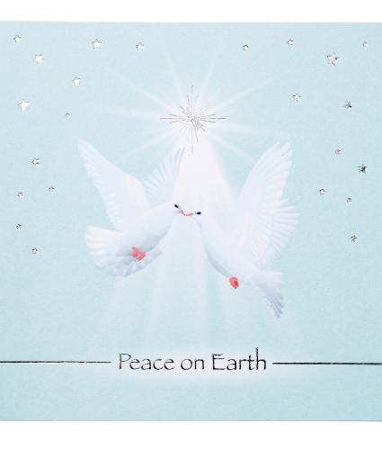 Peace on Earth Stunning Doves Christmas Cards - Pack of 20