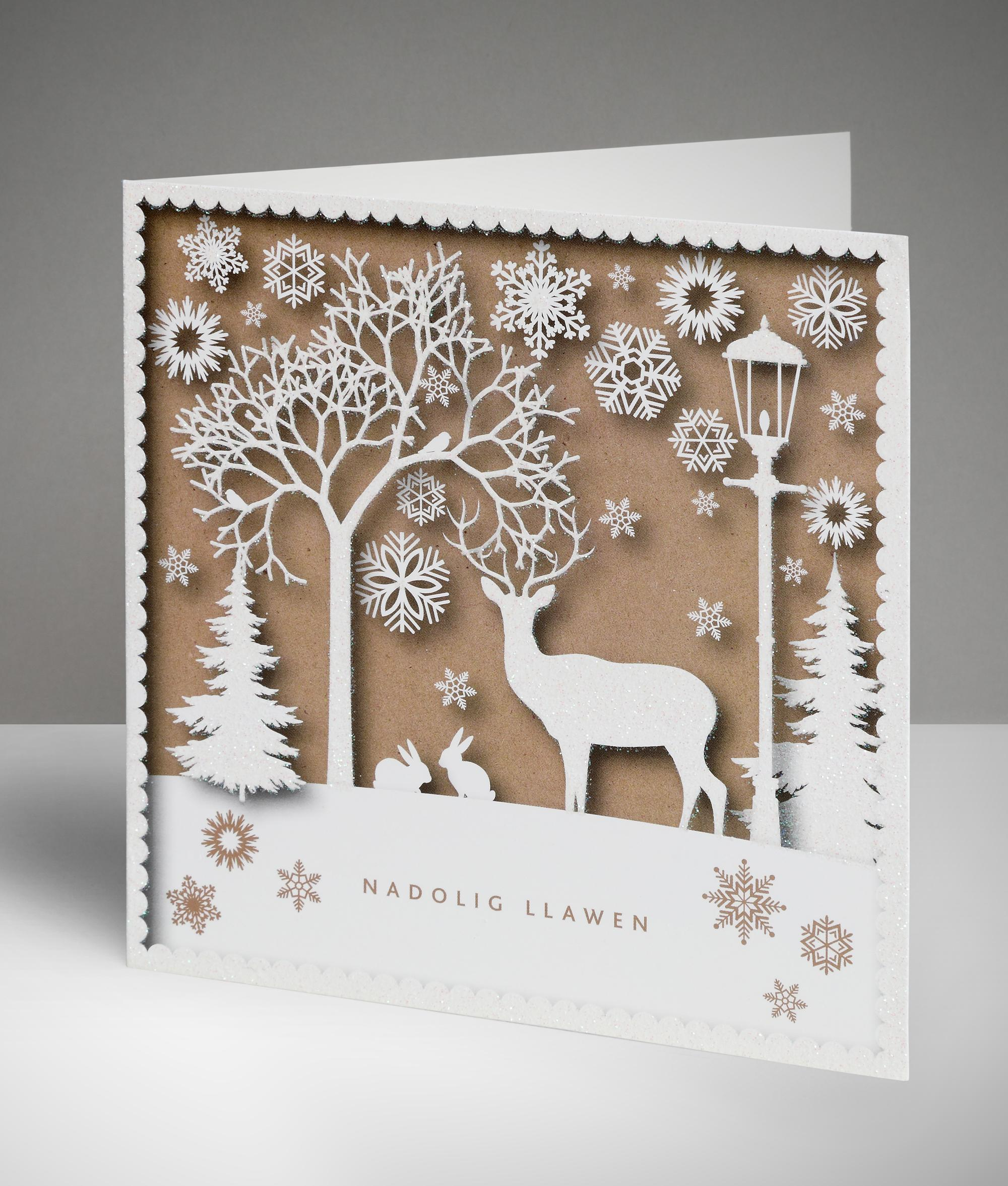 Stag silhouette welsh christmas cards pack of 10 cancer stag silhouette welsh christmas cards pack of 10 kristyandbryce Image collections