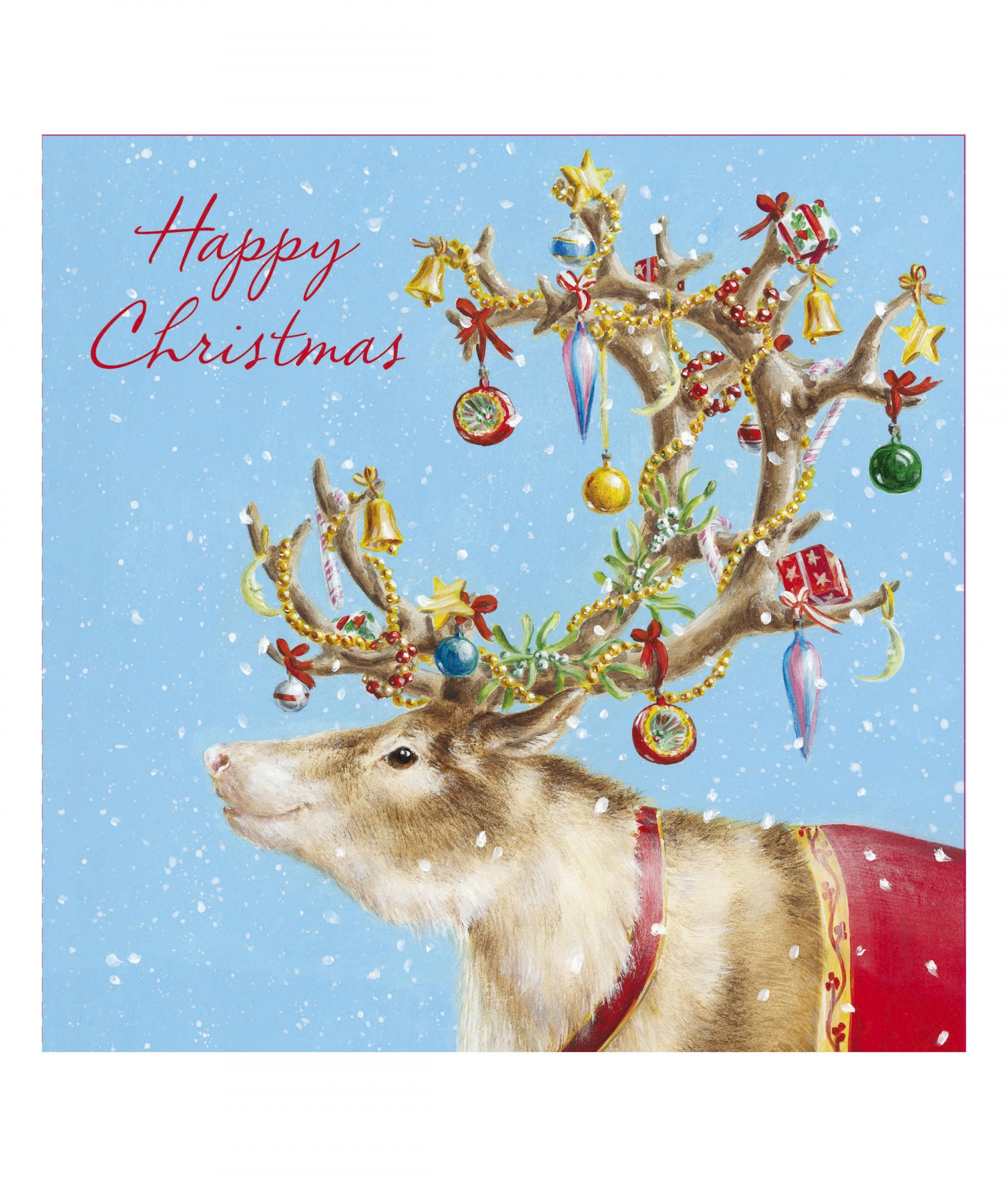 Festive reindeer christmas card pack of 10 cancer research uk festive reindeer cancer research uk kristyandbryce Choice Image