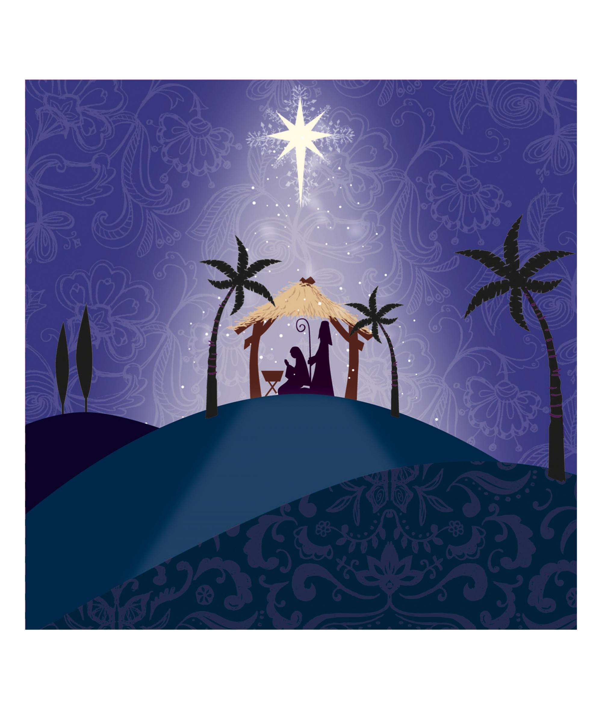 Hill Top Nativity Christmas Card - Pack of 10 | Cancer Research UK ...