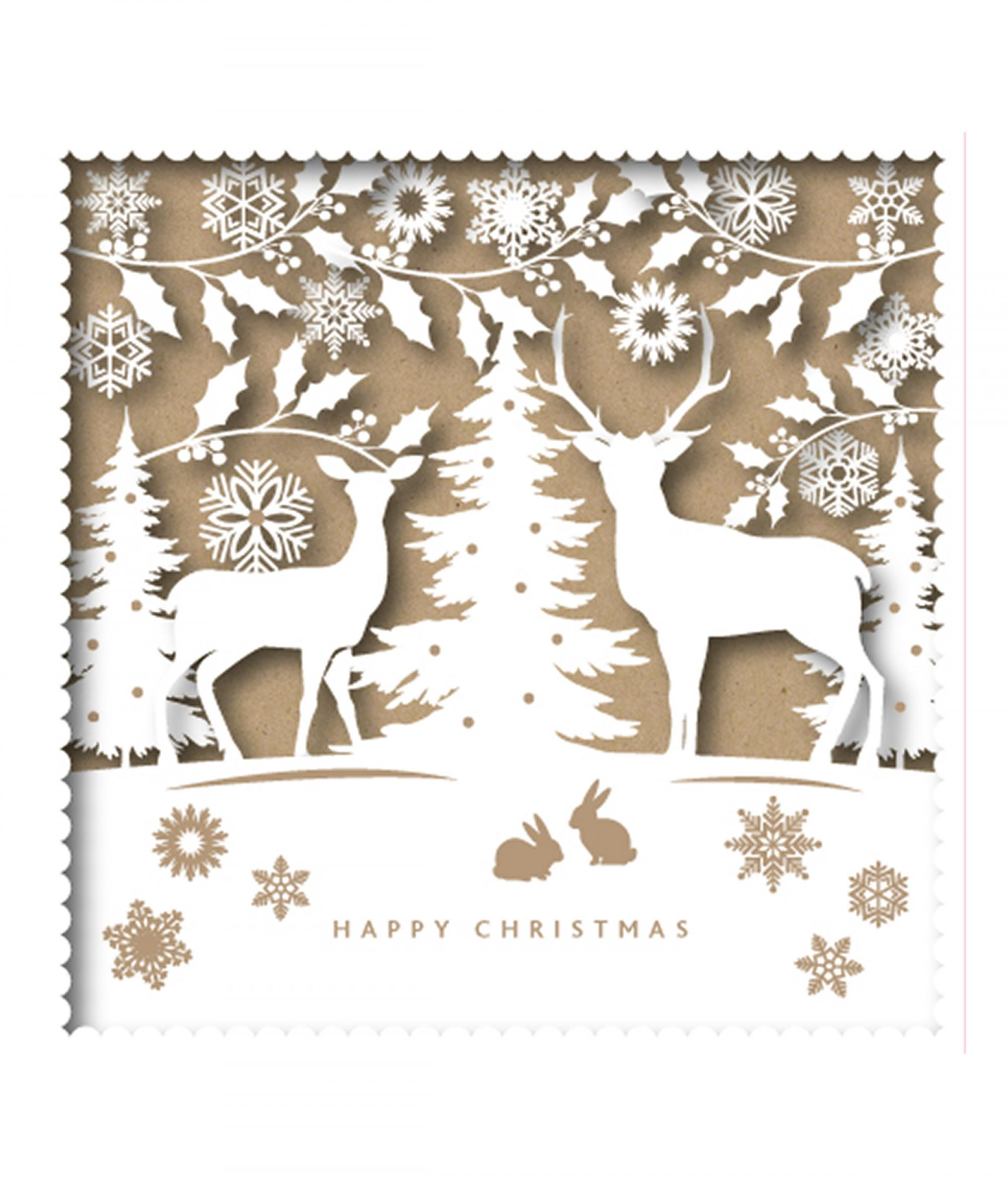 silhouette reindeer cancer research uk christmas card - Deer Christmas Cards
