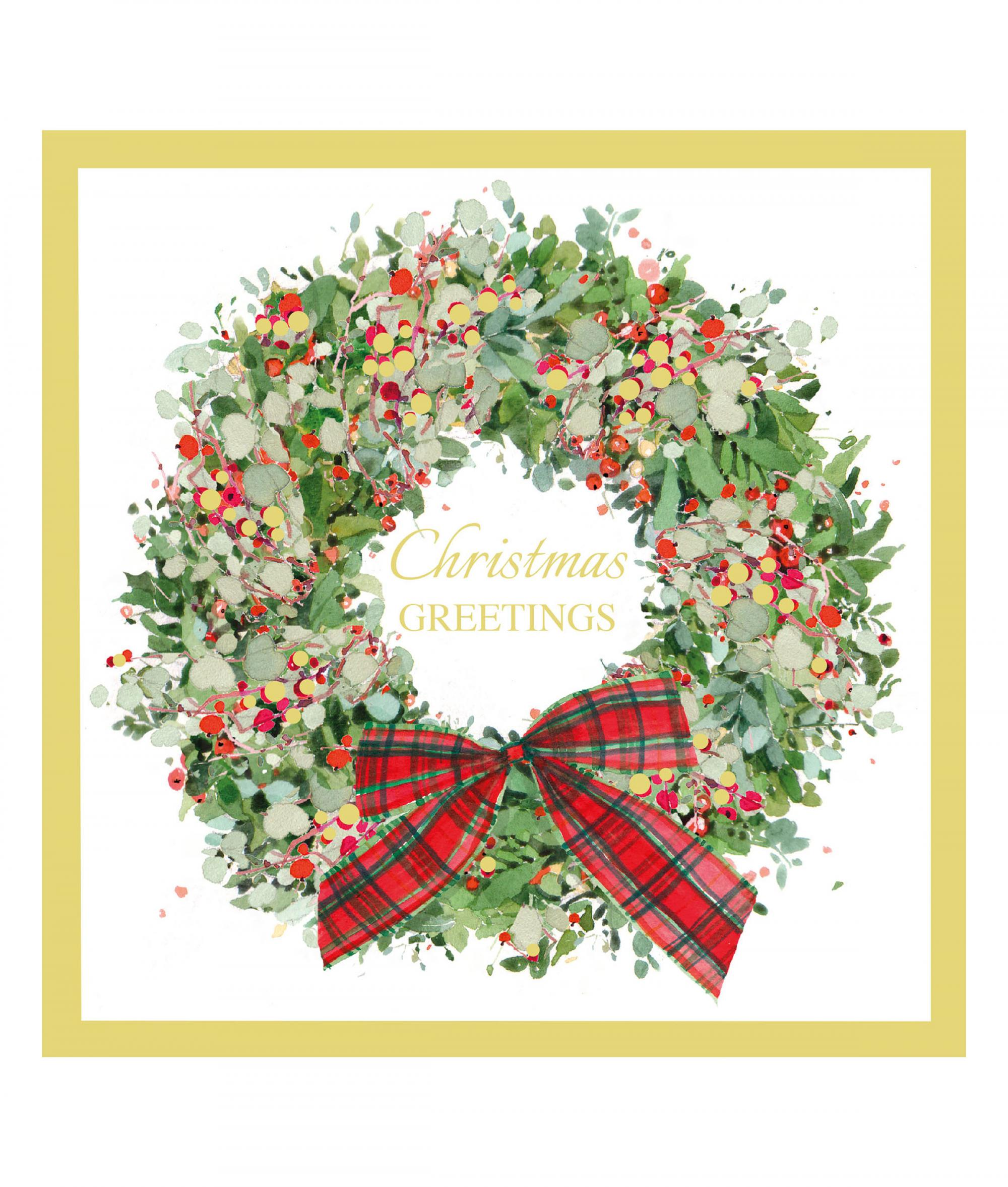 Wreath at Christmas Card - Pack of 10   Cancer Research UK Online Shop