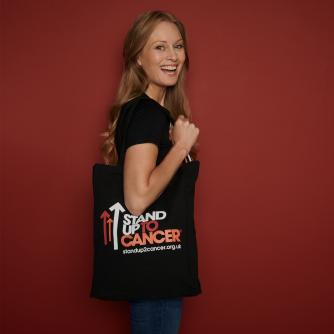 Black Stand Up To Cancer Tote Bag