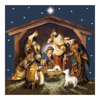 Born In A Stable Christmas Cards - Pack of 10