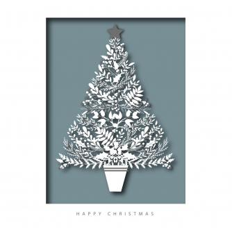Opulent Tree Christmas Cards - Pack of 10