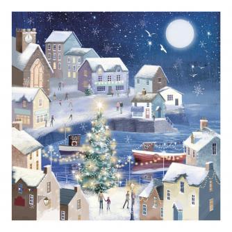 Winter Seaside Christmas Cards - Pack of 20