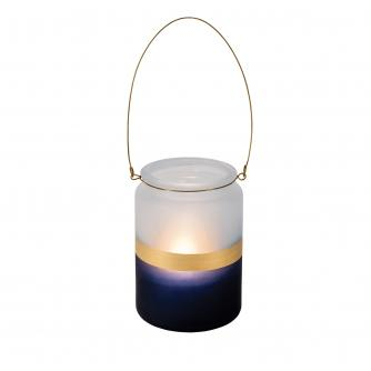 Gold Stripe Tall Candle Holder