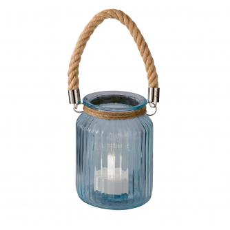 Blue Glass Rope Lantern