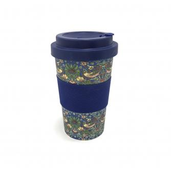 William Morris Strawberry Thief Reusable Bamboo Cup