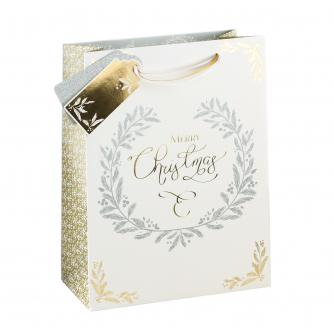 Gold & Silver Christmas Classics Large Gift Bag