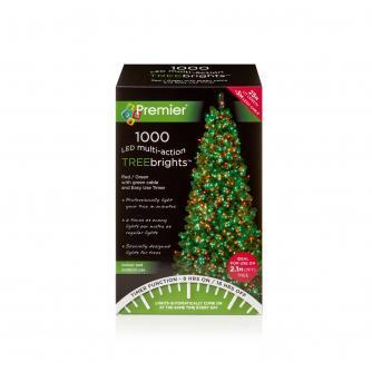 1000 Red & Green LED Christmas Tree Lights