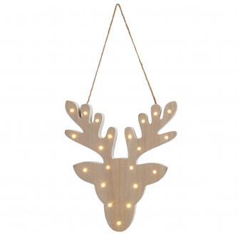 Wooden Reindeer LED Light