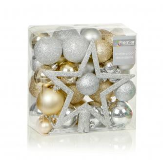 Silver & Gold Bauble Pack