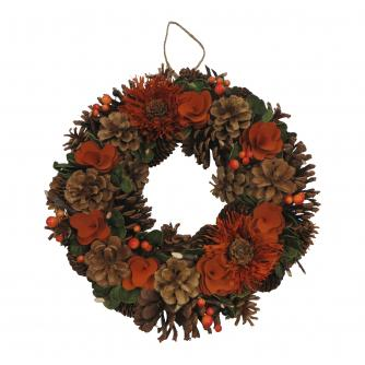 Orange Christmas Wreath