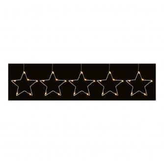 12cm 5 Star Light String with Warm White LEDs