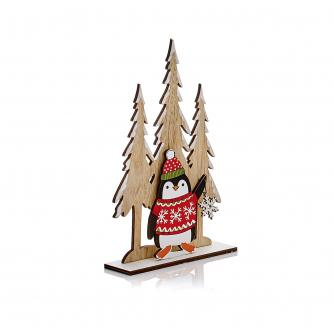 Wooden Table Decoration - Penguin