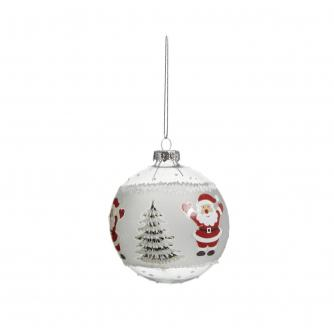 Glass Character Baubles - Santa