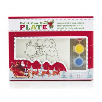 Paint Your Own Ceramic Plate - Rudolph the Reindeer