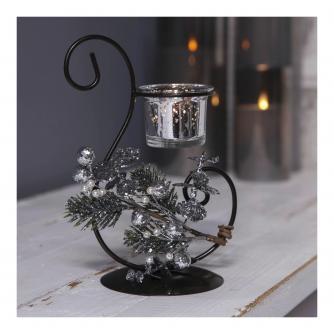 Festive Scroll Tealight Holder in Gift Box