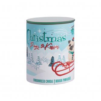 Christmas Pug Candle Pot