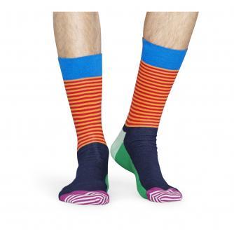 Happy Socks Half Stripe Multicoloured Socks
