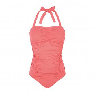 Amoena Jacquie Pocketed Swimsuit in Flamingo
