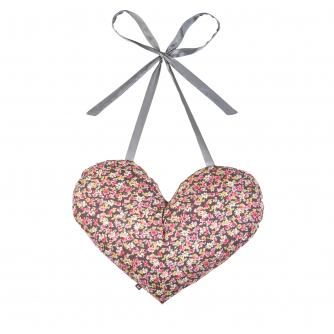 Heart Tie Cushion in Flower Print
