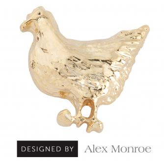 Mrs Chicken Pin Badge by Alex Monroe, Cancer Research UK