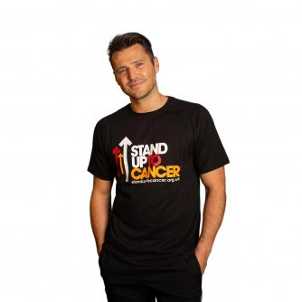 Stand Up To Cancer Men's Full Logo Black T-shirt