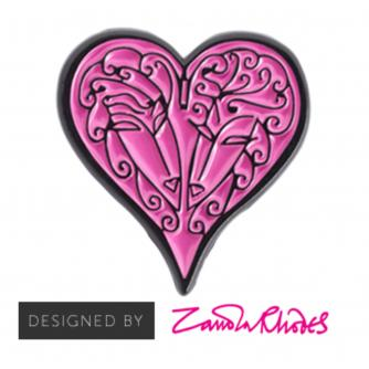 Zandra Rhodes Heart Wedding Favour