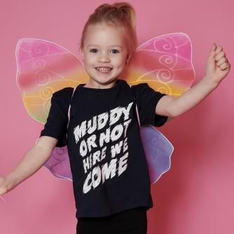 Pretty Muddy Kids Navy Slogan T-shirt