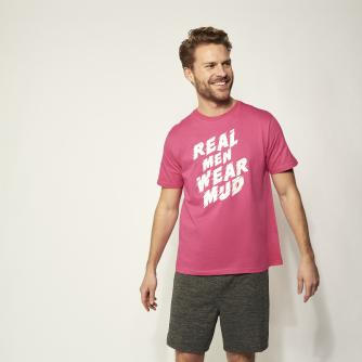 Pretty Muddy Tyre Print Slogan Mens T-shirt