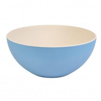 Blue 2-Tone Bamboo Salad Bowl