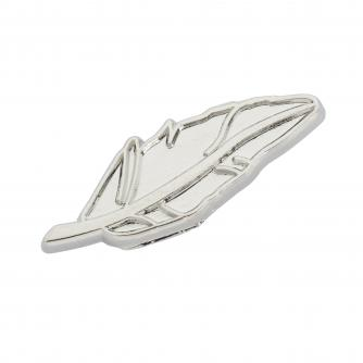 Silver Feather Pin Badge, Cancer Research UK