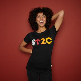 Stand Up To Cancer Women's Short Logo Black T-shirt