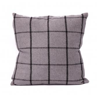 Checked Taupe Cushion