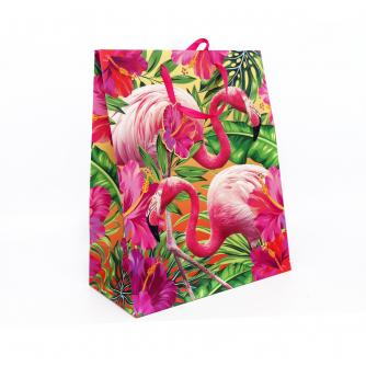 Tropical Large Flamingo Gift Bag