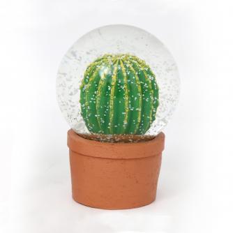 Cactus Round Snow Globe