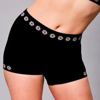 Theya Healthcare Rose Bamboo Seamless Comfort Shorts in Black