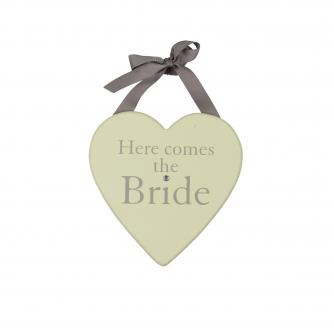 Here Comes the Bride Plaque, Wedding Gifts, Cancer Research UK