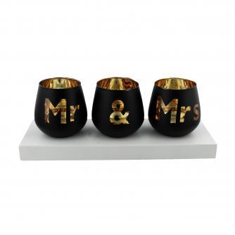 Mr & Mrs Tea Light Set, Wedding Gifts, Cancer Research UK
